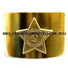 Бляха солдатская СССР Латунь