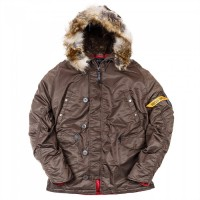 Nord Storm N3B HUSKY II Brown/Red PARKA