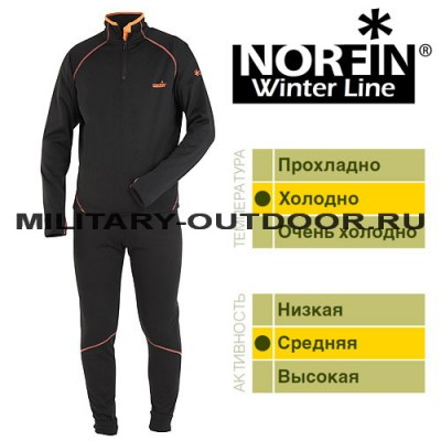 Термобельё Norfin Winter Line Black