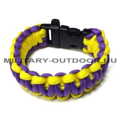 Браслет из паракорда Purple/Yellow