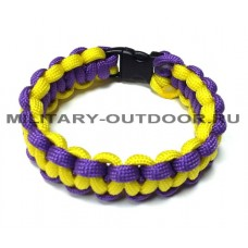 Браслет из паракорда Yellow/Purple