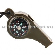 Свисток Следопыт с компасом, термометром PF-TCP-08