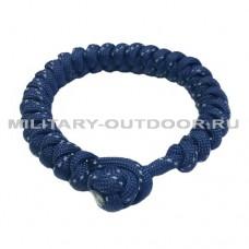 Браслет из паракорда EDCX круглый световозвращающий Navy Blue
