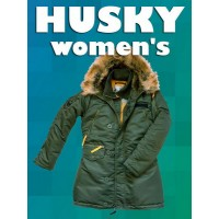 Nord Storm Husky Women`s Parka Sage Green/Yellow