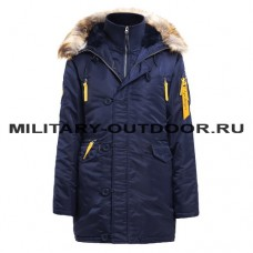 Apolloget Husky Woman`s Parka Rep.Blue/Yellow