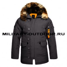 Apolloget N3B Oxford Parka GreyBlack/Orange