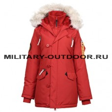 Apolloget Oxford Woman`s Parka Simple Red/White Grey