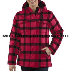 Carhartt Camden Plaid Parka - 16 oz. Wool Blend
