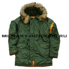 Denali N3B Husky Rifle Green/Orange Parka