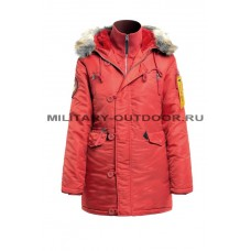 Apolloget Husky Woman`s Parka Burgundy/Red
