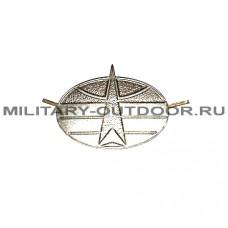 Знак-эмблема на петлицу Космические войска