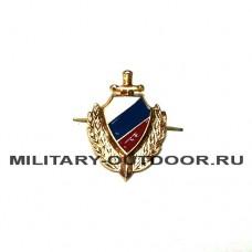Знак-эмблема на петлицу МВД золотистый 07030103