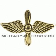 Знак-эмблема на петлицу ВВС золотистый