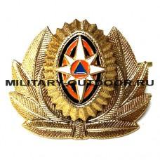 Кокарда МЧС Офицерского состава большая золотистая 07010048