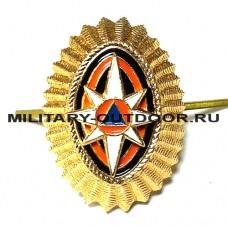 Кокарда МЧС Офицерского состава малая золотистая 07010049
