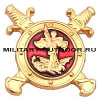 Знак-эмблема на петлицу Полиция золотистый 07030049