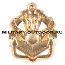 Знак-эмблема на петлицу Инженерные войска золотистый 07030029