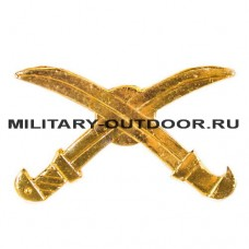 Знак-эмблема на петлицу Казачество золотистый 07030189