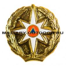 Знак-эмблема на петлицу МЧС золотистый 07030046