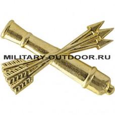 Знак-эмблема на петлицу Войска ПВО золотистый 07030009