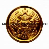 Пуговица Орёл РФ 14 мм золотистая