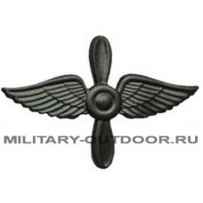 Знак-эмблема на петлицу ВВС полевой