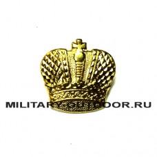 Знак-эмблема на петлицу Казачество Корона золотистый 070300099