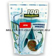 Прикормка зимняя 100 Поклёвок увлажнённая Ice Лещ 500 гр