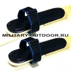 Крепления для охотничьих лыж Маяк 45 мм + Накладка Синтетика