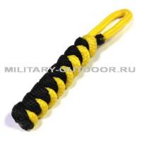 Брелок из паракорда круглый Black/Yellow