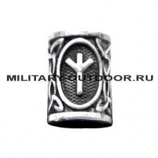 Бусина для паракорда Руны Algiz (руна защиты)