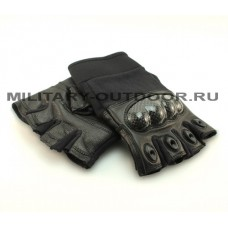 Edge Tac-Force 2.0 Half Finger Gloves Black