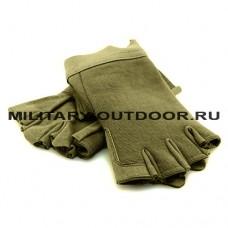 EDGE Mechanics Half Finger Gloves Olive