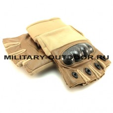 Edge Tac-Force 2.0 Half Finger Gloves Coyote