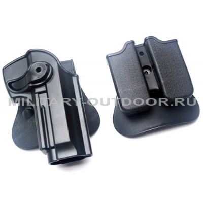 Кобура Anbison Beretta 92 с паучерами Black