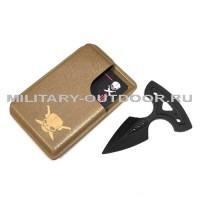 Кардхолдер Pirate Custom Classic Coyote Brown + Push Dagger