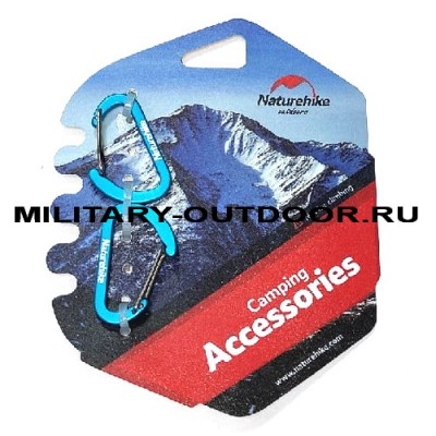 Набор карабинов Naturehike Kit 40mm Blue