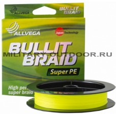 Шнур плетёный Allvega Bullit Braid 0.30/150м Hi-vis Yellow