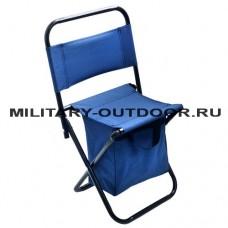 Стул Kutbert кемпинговый складной со спинкой и отделением для вещей 60х35х25см Blue