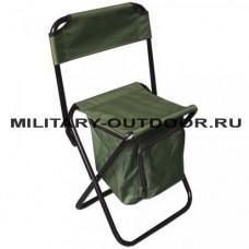 Стул Kutbert кемпинговый складной со спинкой и отделением для вещей 60х30х30см Olive