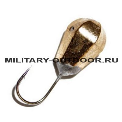 Мормышка вольфрамовая Diskus 0650 Капля гранёная Gold 5мм/1,42гр