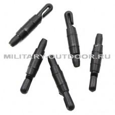 Коннектор для крепления лески к удилищу чёрный 1,5 мм