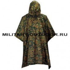 Anbison Poncho Digital Woodland
