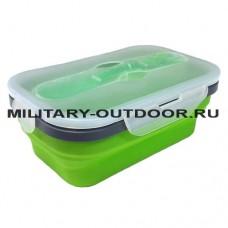Контейнер силиконовый Helios PR-FH016/900ml Green