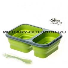 Контейнер силиконовый Tramp 900ml TRC-090 Green