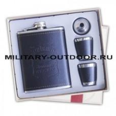 Набор Фляжка Jack Daniels 8 OZ/240ml, 2 стопки, воронка