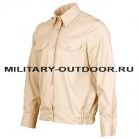 Рубашка форменная длинный рукав кремовая 01190015